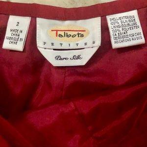 Talbots Pants - Red Talbots 100% silk high waist dress pants sz 2P